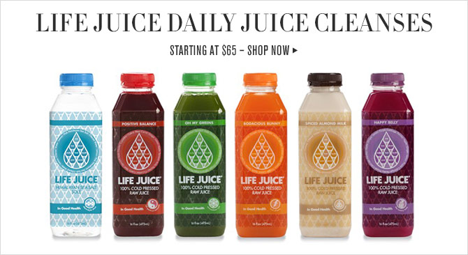 LIFE JUICE DAILY JUICE CLEANSES - STARTING AT $65 – SHOP NOW
