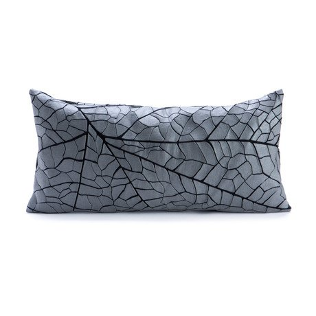 Vein Pillow Cover // Grey