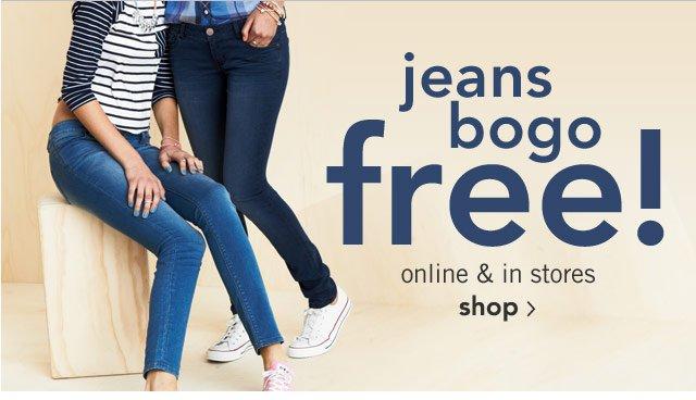 jeans bogo free! online & stores