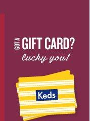 GOT A GIFT CARD? Lucky you!