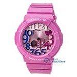 Casio BGA131-4B3 Women's Baby G Ana-Digi Pink Dial Pink Resin Strap Alarm Watch