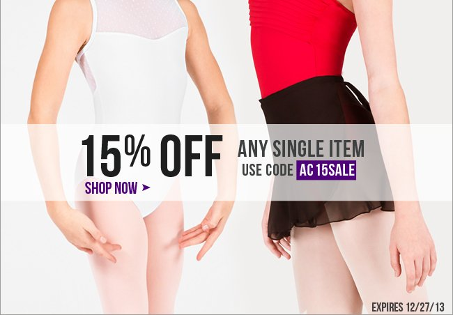 15% Off Any Single Item 48 HRS Only