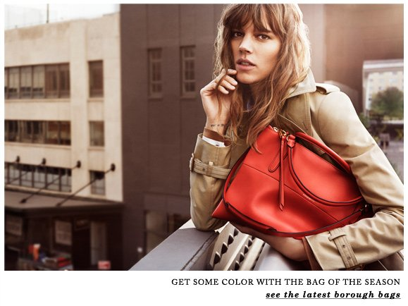 GET SOME COLOR WITH THE BAG OF THE SEASON - see the latest borough bags