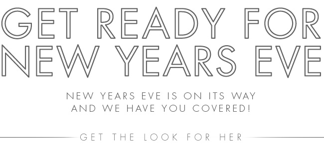 Get Ready For New Years Eve