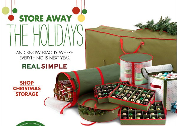 STORE AWAY THE HOLIDAYS AND KNOW EXACTLY WHERE EVERYTHING IS NEXT YEAR REALSIMPLE SHOP CHRISTMAS STORAGE