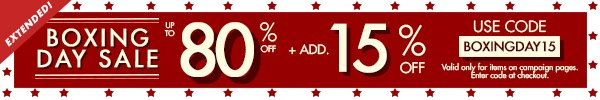 Boxing Day Sale: Extended!