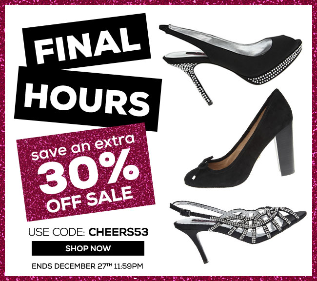 Save an Extra 30% Off Final Hours