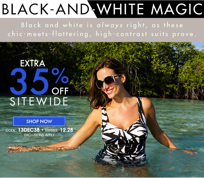 Extra 35% off Black and White suits. Code: 13dec38 - shop now