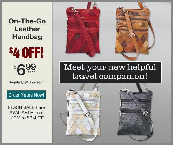 $4 OFF Leather Handbag