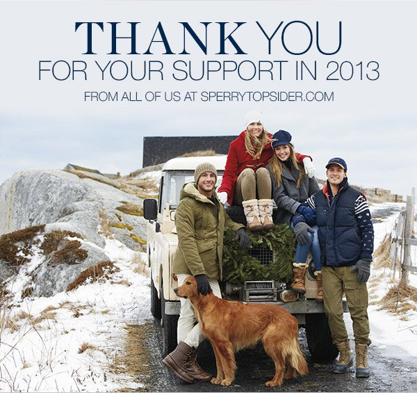 THANK YOU FOR YOUR SUPPORT IN 2013