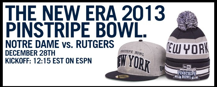 Get Your Gear For The New Era 2013 Pinstripe Bowl