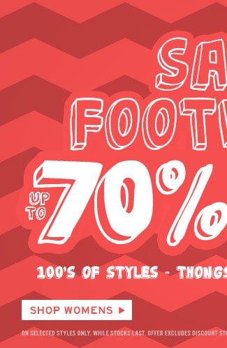 Shop Womens Footwear Sale