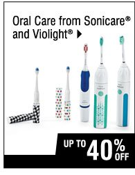 Up to 40% off Oral Care from Sonicare and Violight