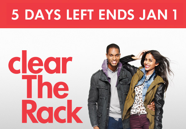 5 DAYS LEFT ENDS JAN 1 - clear The Rack
