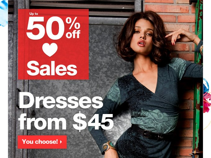 Dresses from $45