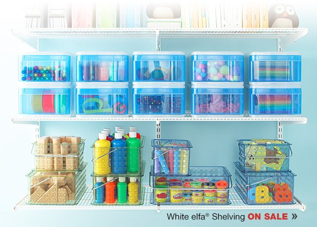 White  elfa Shelving ON SALE »