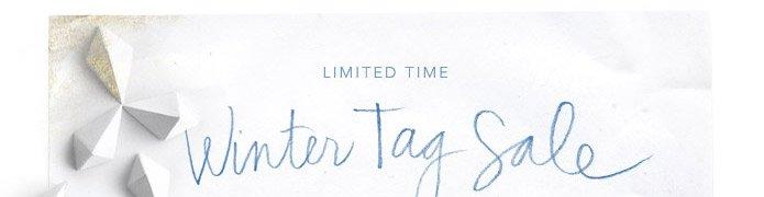 Winter tag sale.