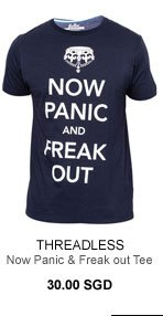 Threadless Now panic and freak out tee