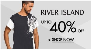 Up to 40% off River Island!