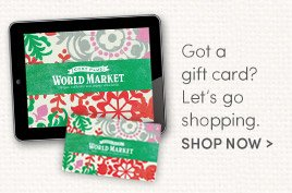 Got a Gift Card? Let's go shopping