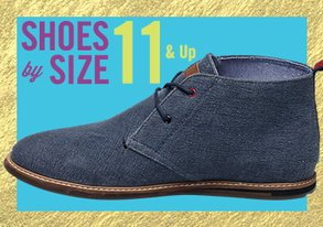 Shop Shoes By Size: 11 & Up
