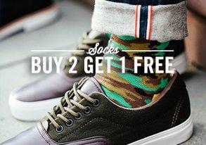 Shop Socks: Buy 2 Get 1 Free