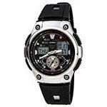 Casio AQ190W-1A Men's Multi-Task Gear World Time Chronograph Sports Illuminator Ana-Digi Watch