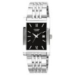 Citizen BH1370-51E Men's Quartz Rectangular Black Dial Stainless Steel Watch