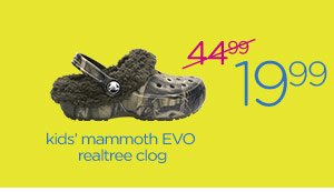kids' mammoth EVO realtree clog