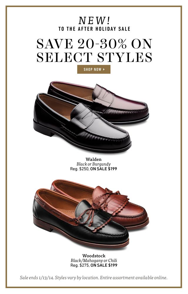 New To The After Holiday Sale: Walden & Woodstock - Save 20-30% on Select Styles through 1/13/14. Shop Now >