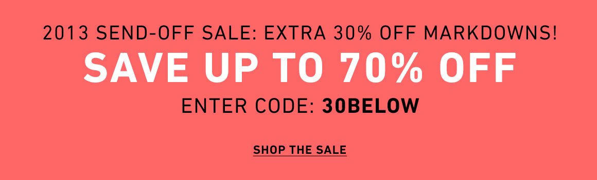 Extra 30% Off Sale