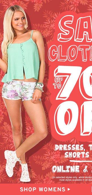 Shop Womens Sale Clothing