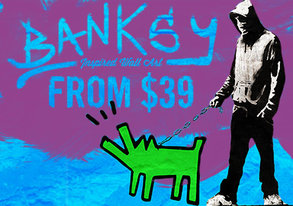 Shop Banksy-Inspired Wall Art from $39