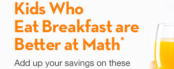 kids who eat breakfast are better at math