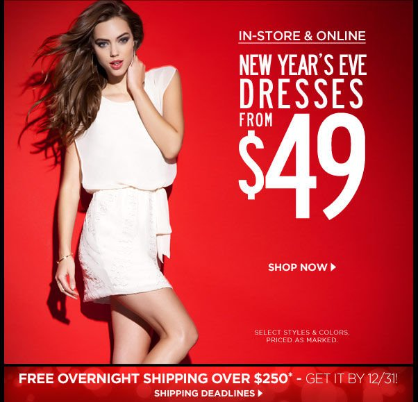 NYE Dresses from $49