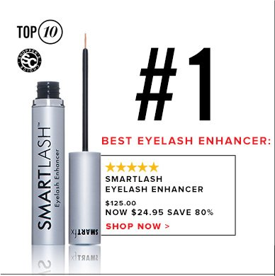 #1 Best Eyelash Enhancer: SmartLash Eyelash Enhancer$24.95Shop Now >>