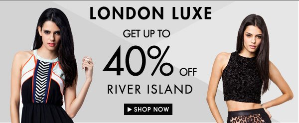 Up to 40% River Island