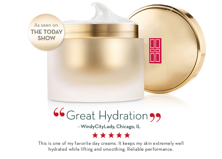 """Great Hydration"" - WindyCityLady, Chicago, IL This is one of my favorite day creams… It keeps my skin extremely well hydrated while lifting and smoothing. Reliable performance."