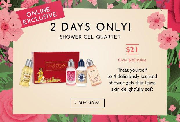 2 Days Only! Shower Gel Quartet!