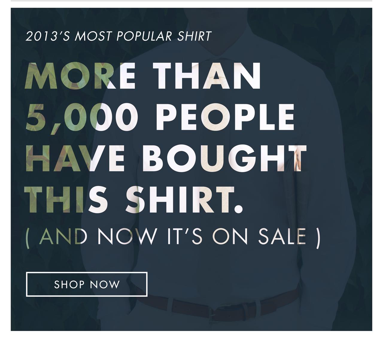 2013 Most Popular Shirt