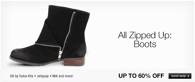 All Zipped Up: Boots