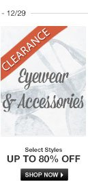 Clearance Bags, Eyewear and Accessories