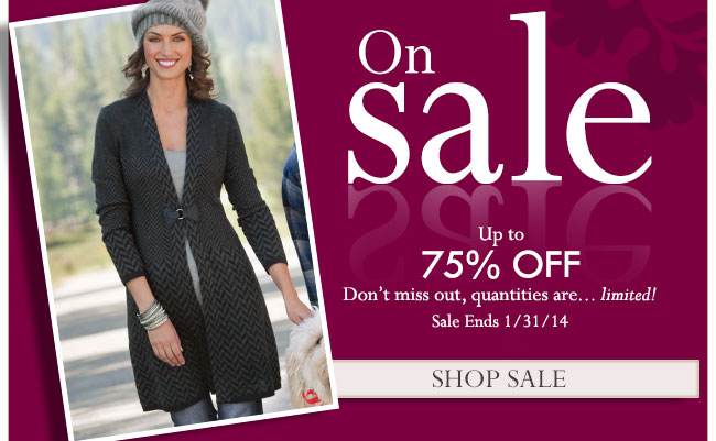 On Sale. Up to 75% Off.