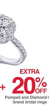 Plus, extra 20% off Pompeii and Diamond-Me brand bridal rings