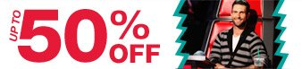 Up to 50% off assorted items from the Adam Levine Collection