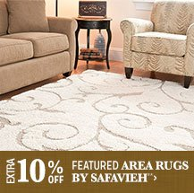 Extra 10% off Featured Area Rugs by Safavieh**