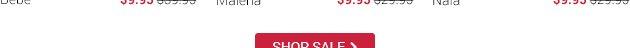 Lingerie sets at 9.95 dollars