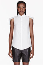 MCQ ALEXANDER MCQUEEN White Lily flag sleeve Blouse for women
