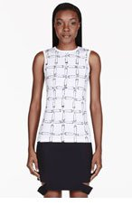 VERSUS White Safety Pin Print J.W. Anderson Edition Tank Top for women