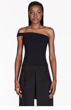 VERSUS Black One-Shoulder Stretch J.W. Anderson Edition Blouse for women